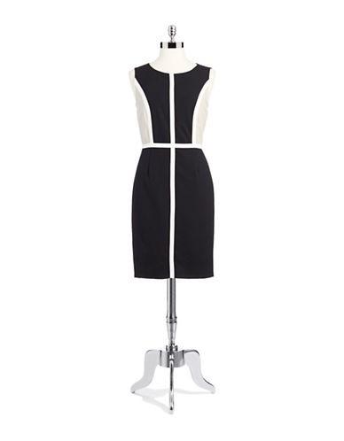 CALVIN KLEINColorblock Sleeveless Sheath Dress