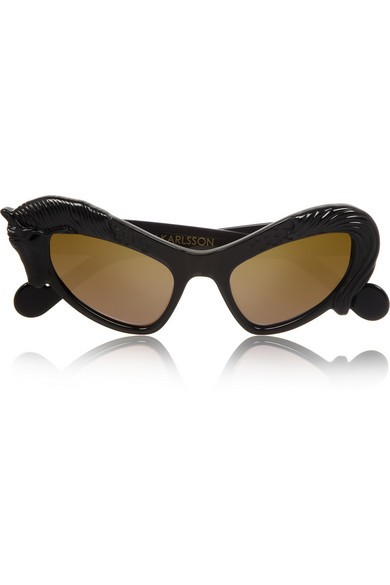 Black Horse cat eye acetate sunglasses