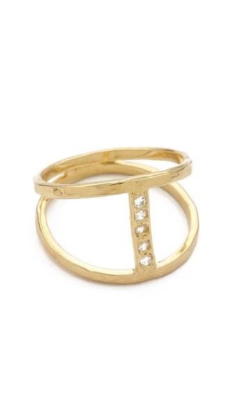 JA Pave Center H Ring