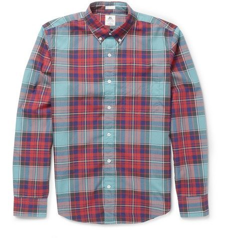 Thomas Mason Plaid Cotton Shirt
