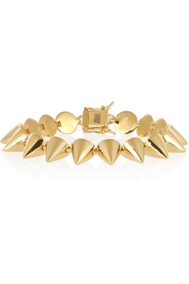 Gold-plated cone bracelet