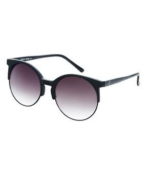 ASOS Oversized Half Round Sunglasses