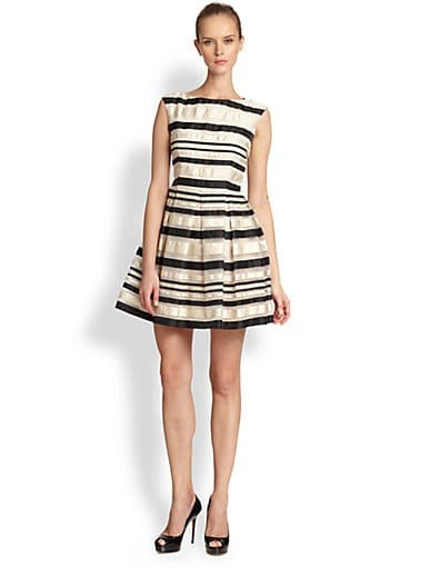 Fit & Flare Ribbon Trim Dress