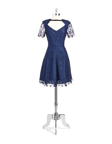 A.B.S. BY ALLEN SCHWARTZ Lace A-line Dress