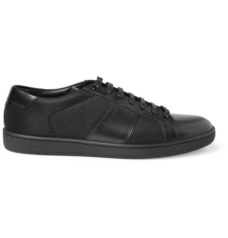 SL03 Leather and Canvas Sneakers