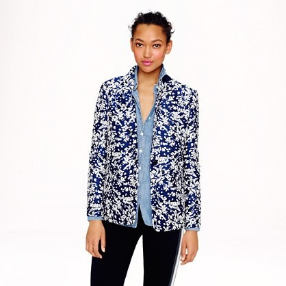 Collection Rylan blazer in haven blue jacquard
