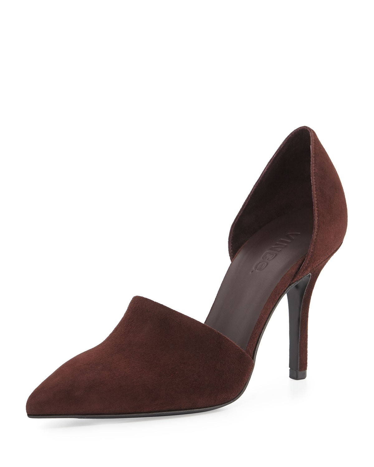 Claire Two-Piece Suede Pump, Black Cherry - Vince - Black cherry (35.0B/5.0B)