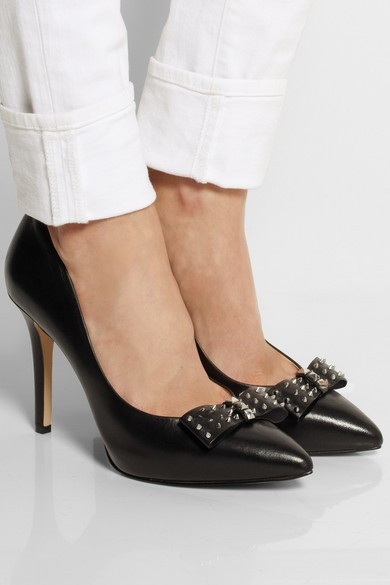 Devin leather pumps