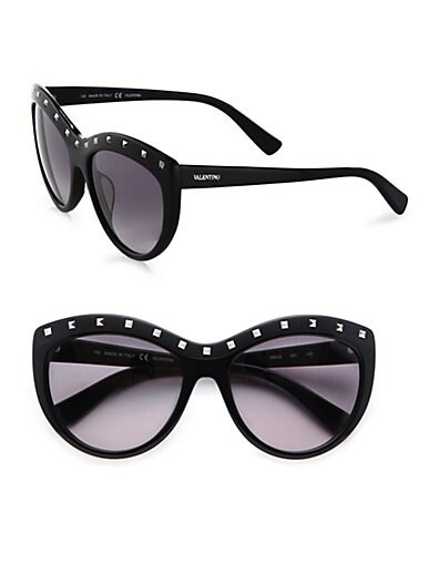 Rockstud Oversized Cat's Eye Acetate Sunglasses