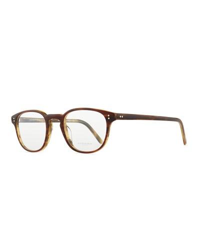 Fairmont 47 Acetate Fashion Eyeglass Frames, Brown