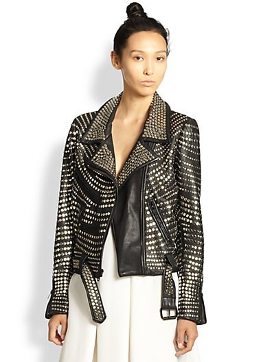 Blake Studded Leather Biker Jacket