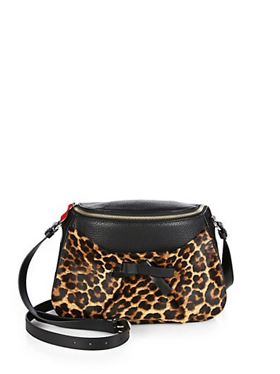 Salinda Leopard-Printed Calf Hair Messenger