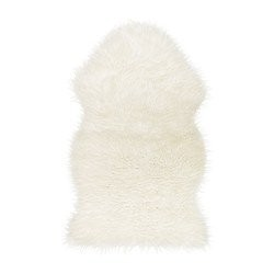 Ikea 302.290.77 Tejn faux sheepskin, white