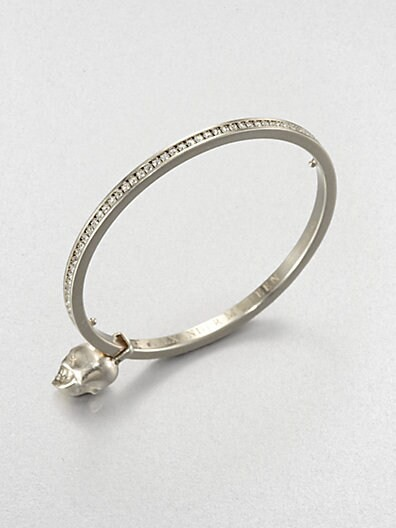 Swarovski Crystal Skull Bangle Bracelet