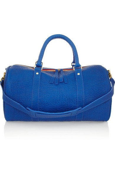 Grand Duffle textured-leather bag