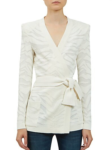 Deveree Textured Wrap Cardigan