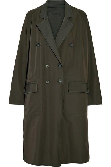 Oversized twill coat
