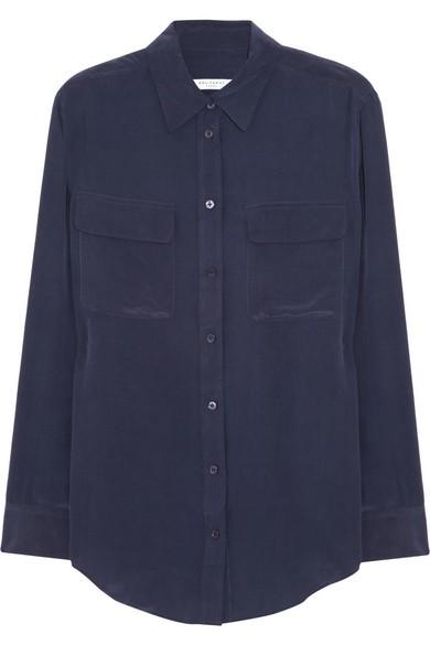 Signature washed-silk shirt