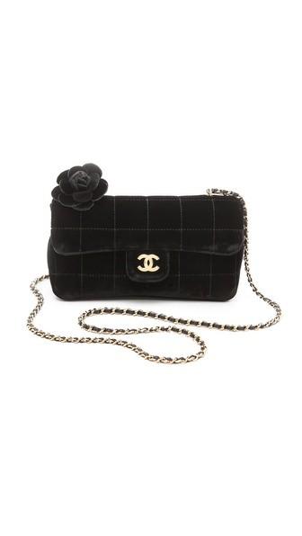 Vintage Chanel Velvet Choco Bag