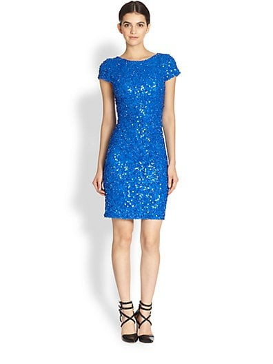 Taryn Cap-Sleeve Sequin Dress