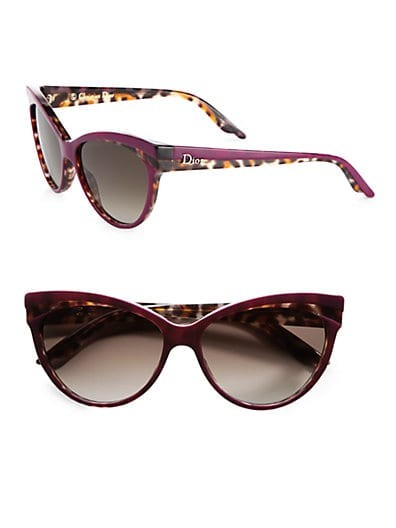 Plastic Panther Cat's-Eye Sunglasses