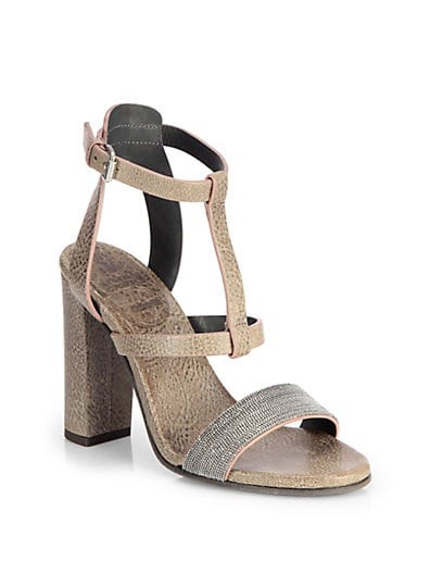 Monili Beaded Leather Sandals