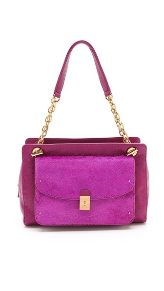 Priscilla Haircalf Shoulder Bag