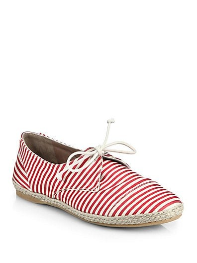 Dolly Striped Grosgrain Espadrille Sneakers