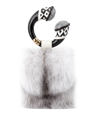 Mink Fur Bracelet Bag, Chalk - Tom Ford