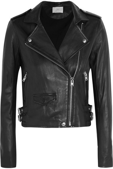 Ashville cropped leather biker jacket