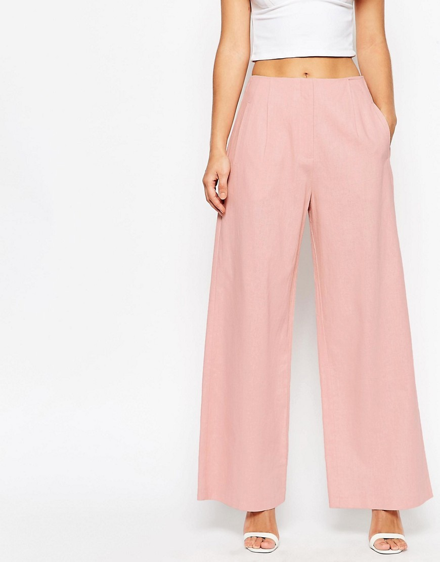ASOS Wide Leg Pant in Linen