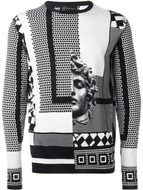 graphic print sweater