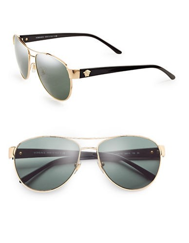 VERSACE Medusa 58mm Aviator Sunglasses
