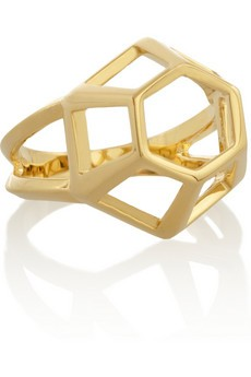 Lattice gold-plated ring