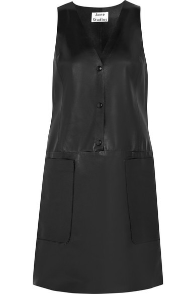 Chaplin leather mini dress
