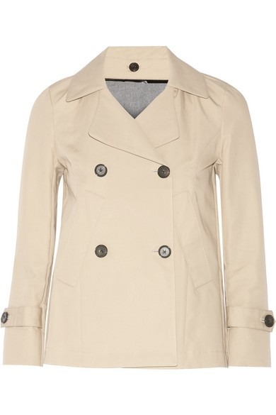 Doris cotton-blend gabardine peacoat