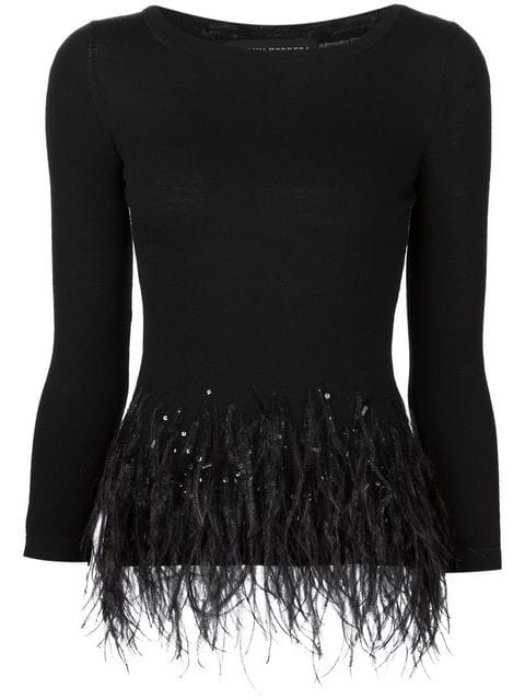 feather hem detailing top