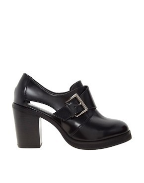 ASOS PERRIE Leather Heeled Monk Shoes