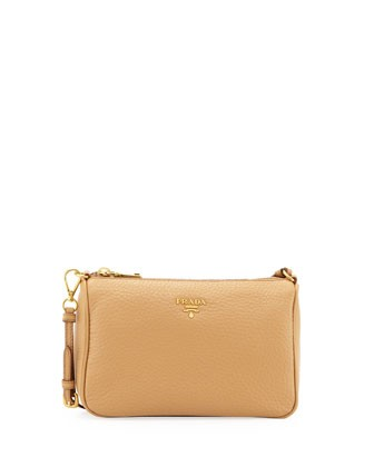 Daino Small Shoulder Bag, Tan