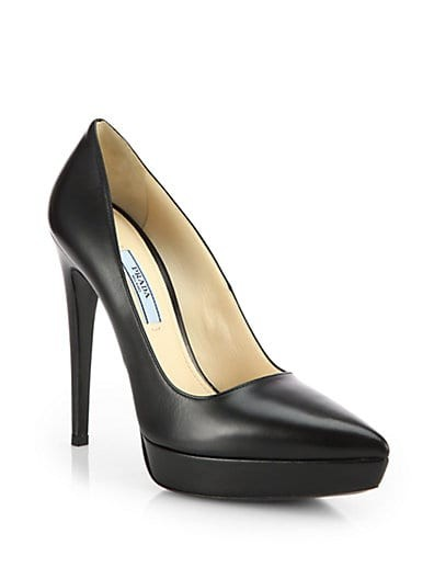 Leather Platform Pumps
