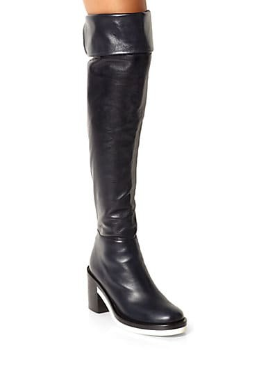 Runway Leather Thigh-High Boots