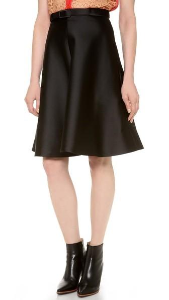 Stitched Twill Skirt
