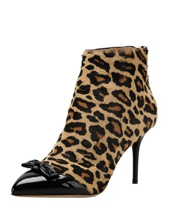 Myrtle Leopard-Print Calf Hair Bootie