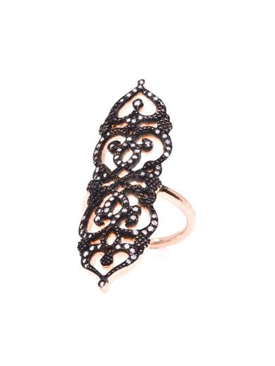 Diamond & rose gold medieval ring