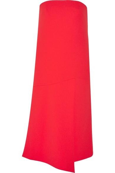 Strapless stretch-crepe dress