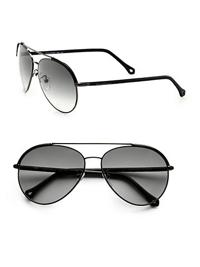 Metal and Leather Aviators