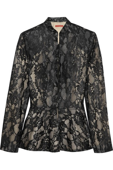Polly lace peplum jacket