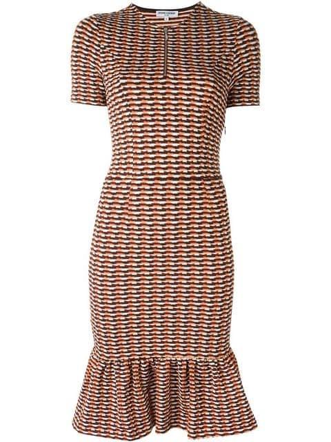 printed flute dress