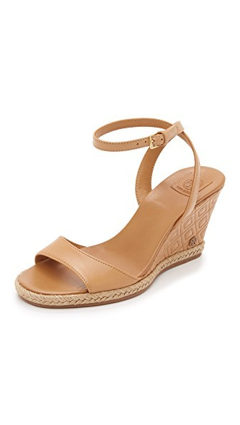 Marion Quilted Wedge Sandals