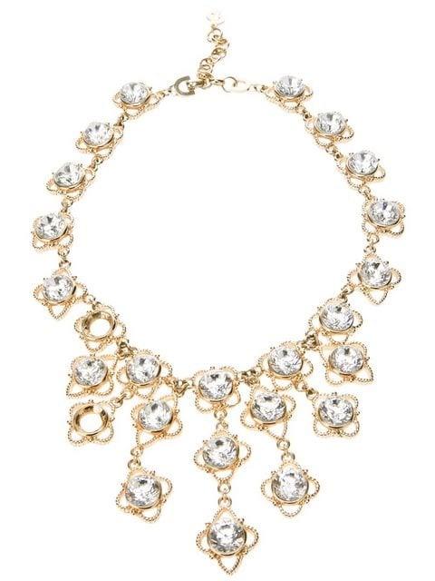 embellished bib costume necklace